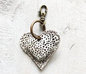 Sleutelhanger heart dot