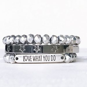 Armbanden zilver love what you do