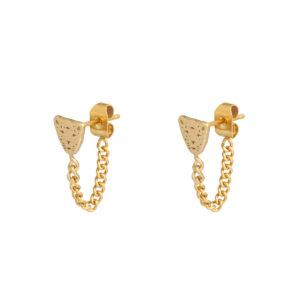 Oorbellen leopard chain goud
