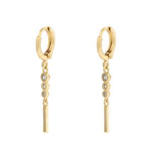 Oorbellen elegant stones goud