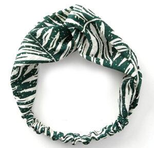 Haarband green leaves