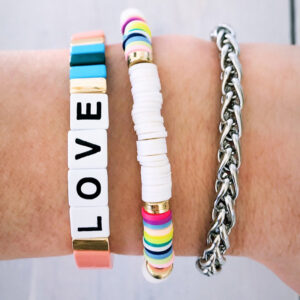 Armbanden set zilver white love