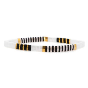 Colorful beach bracelet black and white