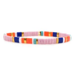 colorful beach bracelet pink