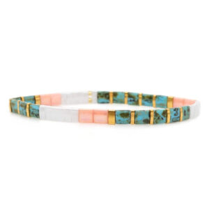 colorful beach bracelet pink blue