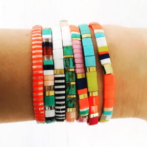 colorful beach bracelet set