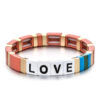 Armband LOVE plat colors