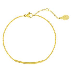 Armband bowed bar goud