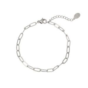 Armband chained up zilver