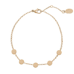 Armband little coins goud
