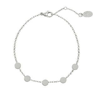 Armband little coins zilver
