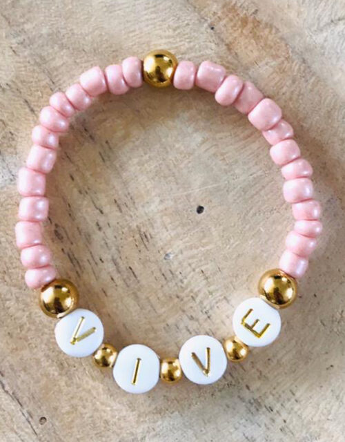 Armband little girl pink