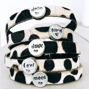 Armband met eigen naam spots