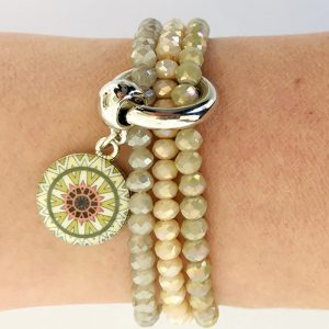 Armbanden set sparkle pastel