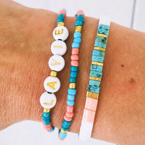 Armbanden set la vie pink