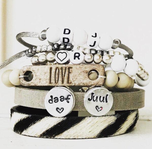 Armbanden set met eigen naam deluxe
