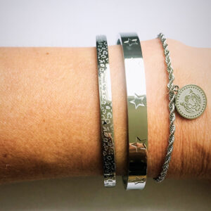 Armbanden set zilveren bangles