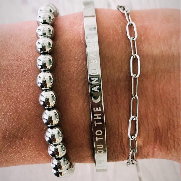 Armbanden set moederdag zilver i love you