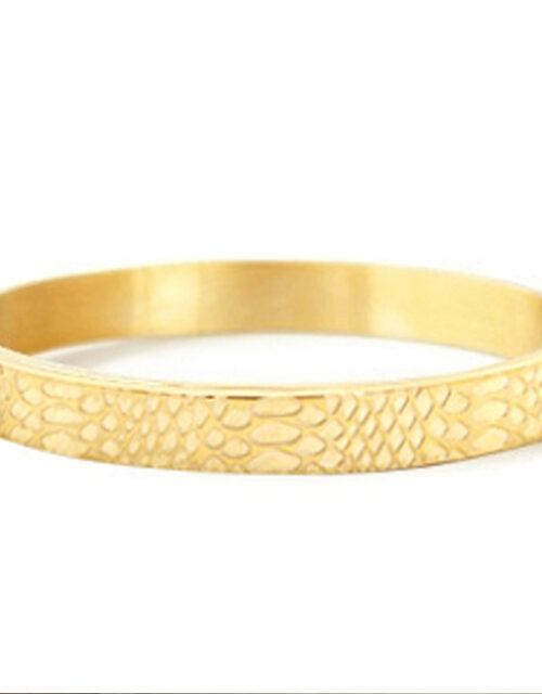 Bangle armband snake goud
