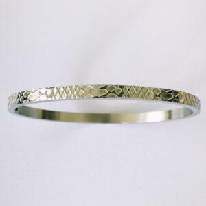 Bangle armband snake zilver