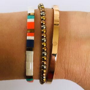 Beach bracelet armbanden set rose
