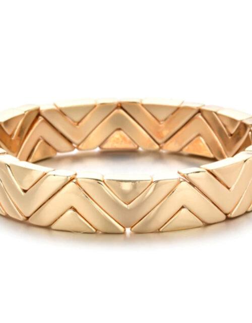 Brede armband arrow goud