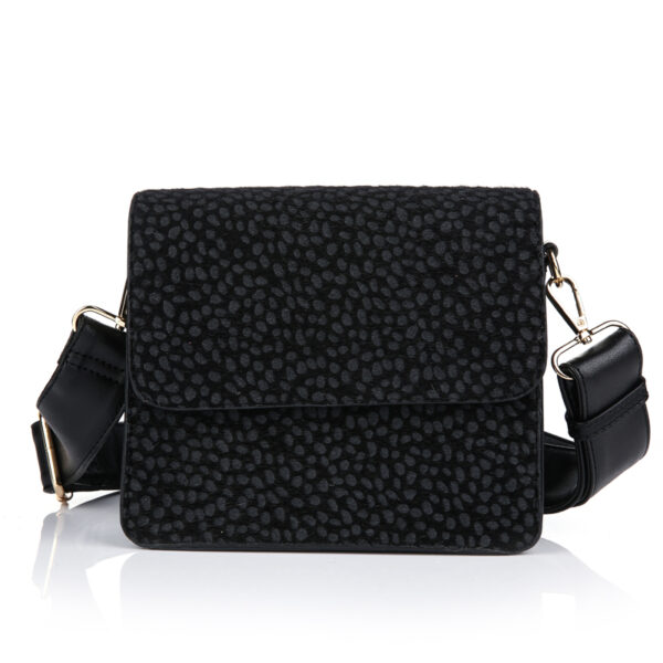 Crossbody bag cheetah black