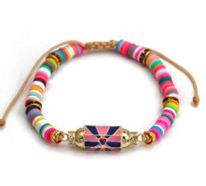 Geluksbedel armband bright colors