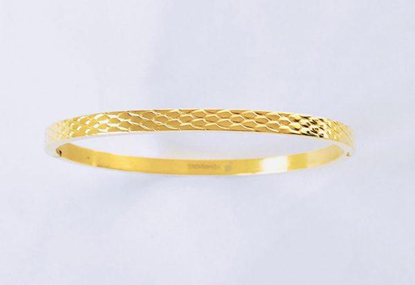 Armband bangle snake goud