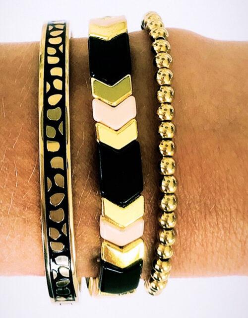 Gouden armbanden trio