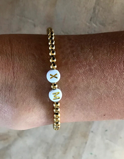 Gouden rvs kralen initials