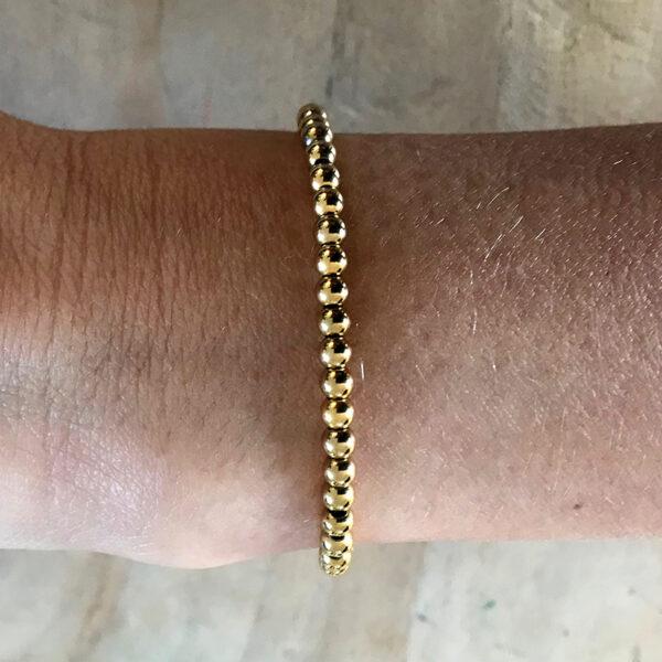 Gouden rvs kralen armband