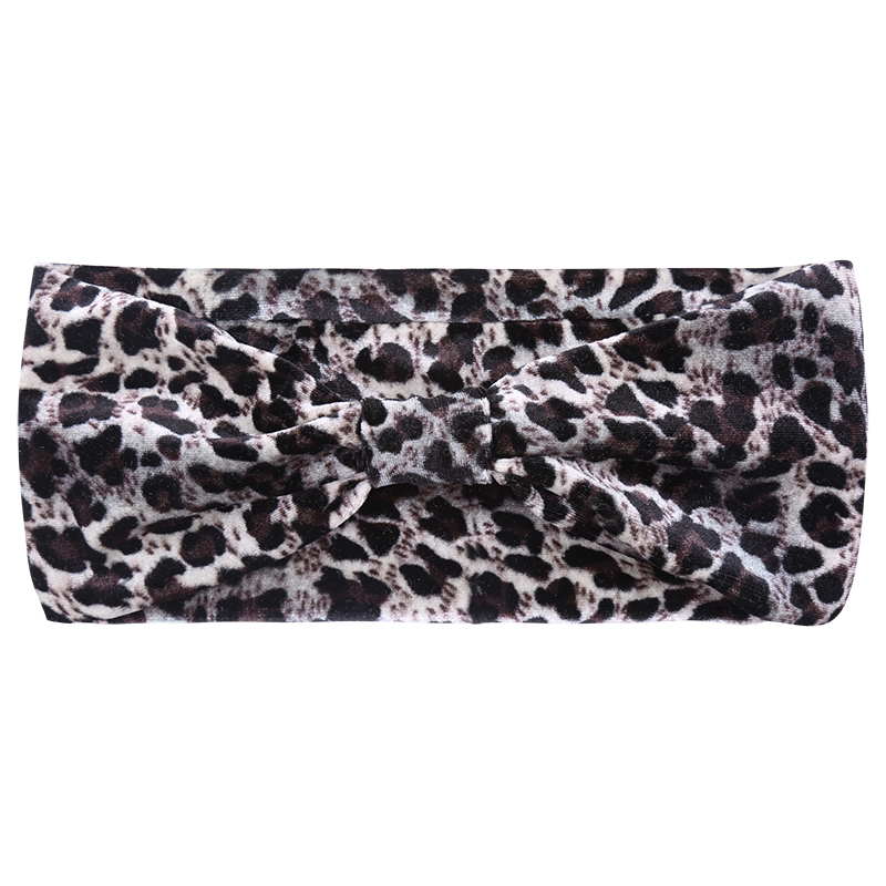 Haarband leopard grey