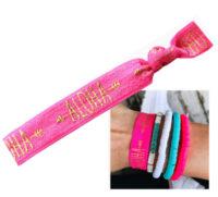 Ibiza elastisch armbandje pink