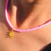 Ibiza ketting roze