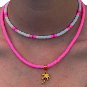 Ibiza kettingen set in pink