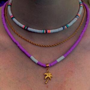 Ibiza kettingen set in purple
