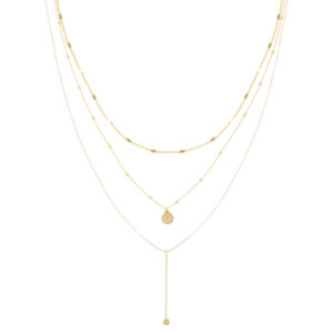 Ketting in laagjes coin goud