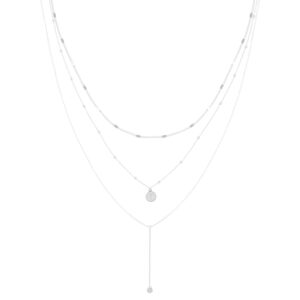 Ketting in laagjes coin zilver