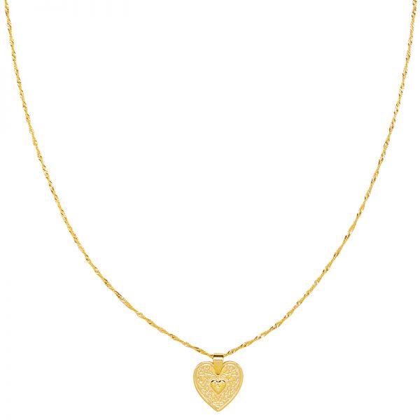 Ketting locked in love goud