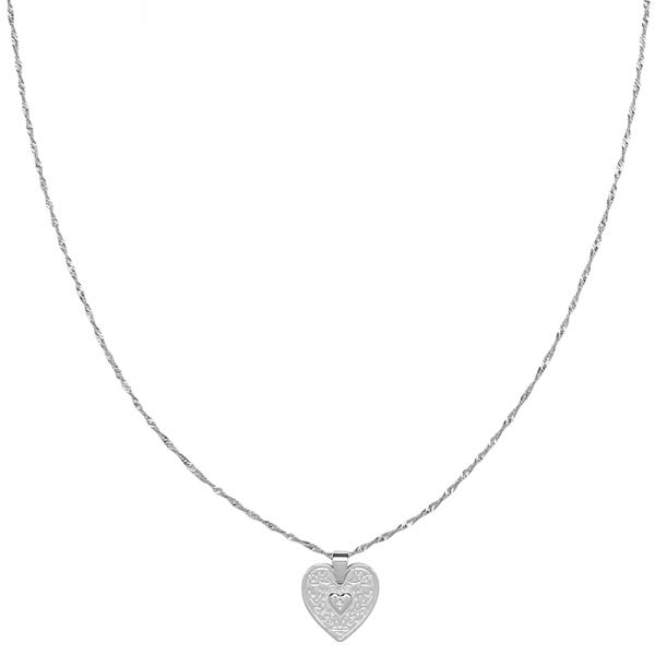 Ketting locked in love zilver
