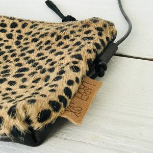 Label Six clutch panter print