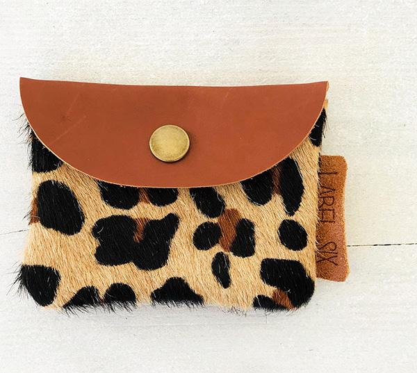 Six Portemonnee.Label Six Porto Leopard Trendy Portemonne Gemaakt Van Echt Leer