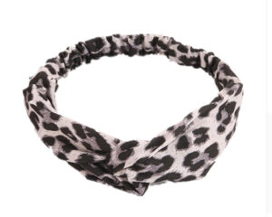 Leopard haarband grey