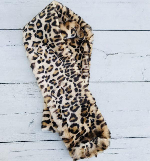 Leopard teddy sjaal