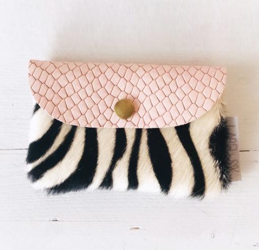 Leren porto pink zebra