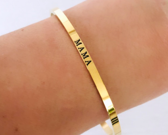 Mama armband goud rvs