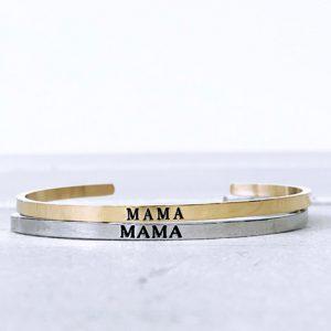 Mama armband zilver en goud