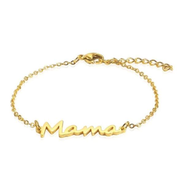 Mama armbandje goud