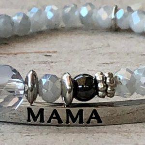 Sparkle mama in zilver rvs grey